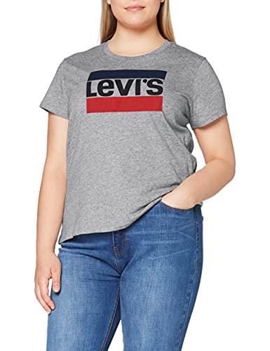 Levi's Damen The Perfect Tee T-Shirt, Sportswear Logo Smokestack Htr, L