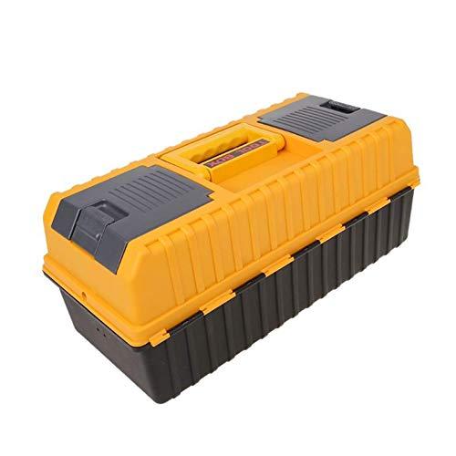 Caja de herramientas de plástico grande de 17 pulgadas, caja de herramientas de hardware de almacenamiento de 3 capas, caja de contenedor de reparación de automóviles multifunción para el hogar