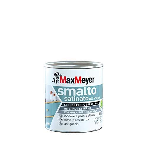 Maxmeyer 165329B130001 Smalto Satinato all'Acqua, Bianco, 0.125 L