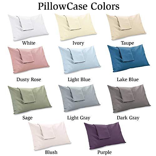 MyPillow Giza Pillowcase Set (Queen, Taupe)