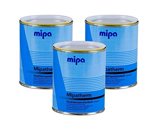 Mipa 3X Mipatherm Schwarz Thermolack Ofenlack hitzebeständig bis 800°C 750 ml
