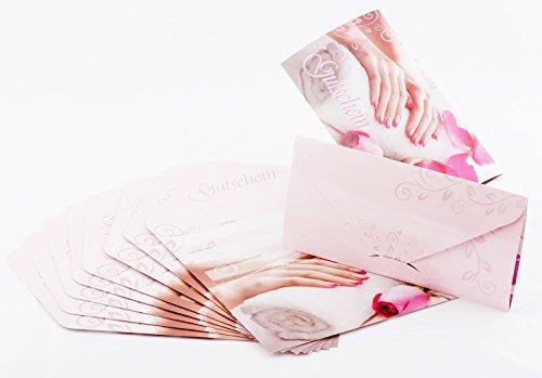 KM-Nails Geschenk Gutschein Karten #2 für Nagelstudios 10 Stück