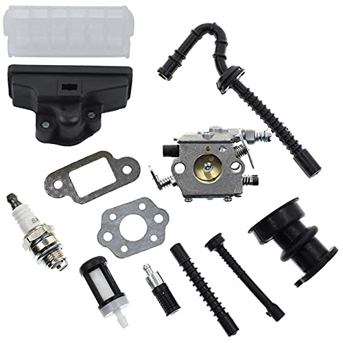 ZHAOH Kit de Filtro de Aire de carburador para STIHL 021 023 025 MS210 MS230 MS250 250 Sierra de Cadena 1123 120 0605, 1123 160 1650 (Color : Silver)