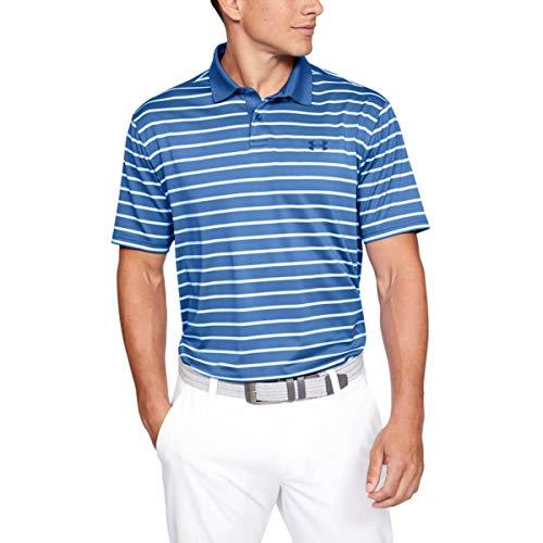 Under Armour Herren Performance 2.0 Divot Stripe Polo T-shirt, Blau (Tempest 510), L