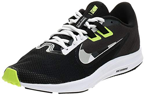 NIKE Herren Nike Downshifter 9 Schuh, Black/White-Particle Grey-Dk Smoke Grey, 44 EU