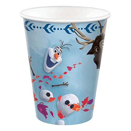 New amscan Frozen 2 Birthday, Olaf & Sven Paper Cups, 9 Oz., 8 Ct.
