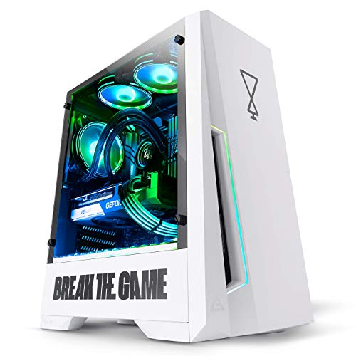 OPSYS Agilian-V5 White Gaming PC (Intel Core i5-11400 Six Core, ASUS Geforce RTX 3060 12 GB Scheda grafica NVMe, SSD da 1 TB HDD, 16 GB 3000 Mhz RAM, AIO Liquid Cooler, WiFi, Windows 10)