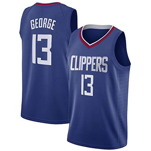 WSUN Camiseta De Baloncesto De La NBA para Hombre, Camiseta De LA Clippers NBA 13# Paul George, Camiseta De Swingman De Baloncesto Transpirable,A,XXL(185~190CM/95~110KG)