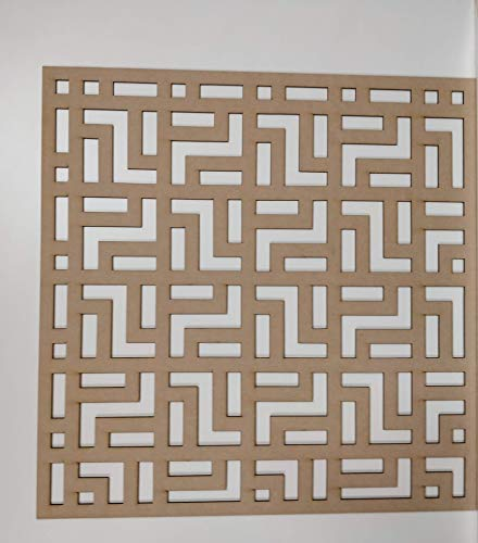 LaserKris LA262-14 - Rejilla Decorativa para Pared (Tablero DM Perforado, 600 x 600 mm)