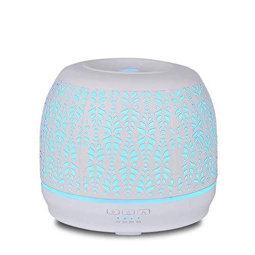 HONGLONG Humidificador 500ML, difusor de aromaterapia, con 7-Color del LED y la función de Apagado automático, Muy Adecuado para SPA, masajes, Yoga