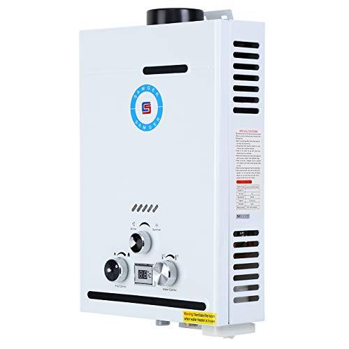 Youwise Calentador de Agua 8L Calentador de Agua de Gas Natural/propano sin Tanque para Cocina casera
