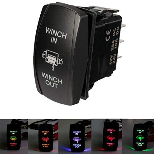 KQATCJ 12V 20A Barco UTV Doble LED de luz Torno In out ON-Off-ON láser basculante de conmutación 7 Pin per Truck Trailer Yacht (Color : Yellow)