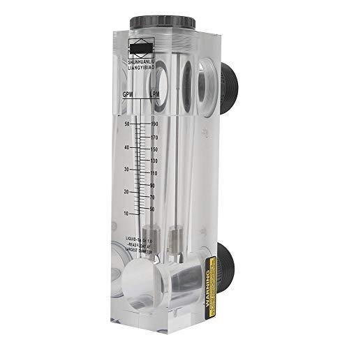 Caudalímetro de líquido, rosca externa LZM-50, caudalímetro de agua tipo panel LZM-50 BSPT para una medición precisa Plástico de gran caudal G 2'
