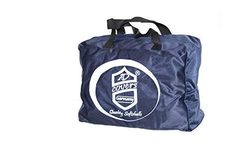 AMS Vollgarage Mikrokontur® Blau für Wartburg 314 Limosine, schützende Autoabdeckung mit Perfekter Passform, hochwertige Abdeckplane als praktische Auto-Vollgarage