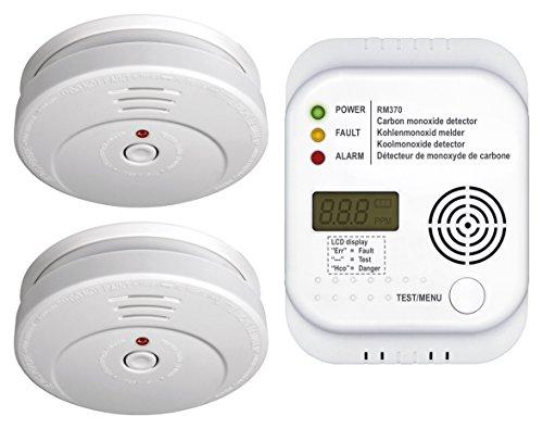Smartwares FSSCO-15 Detectores de CO2, Calor, Humo y extintor, 9 V, Blanco