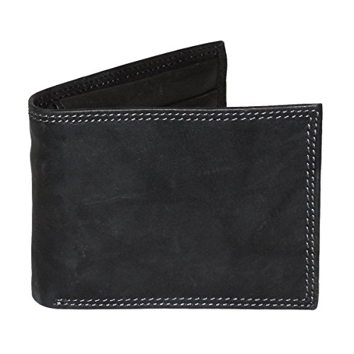 Buxton Men's Hunt Convertible Billfold Wallet, Black, One Size
