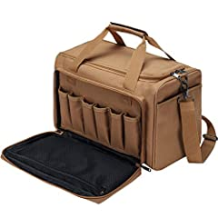 """✅【 Size 】: 10'' high, 15"""" long, 11"""" wide ✅【 Material 】: External (waterproof 900D polyester), Internal (high-density tear-resistant lining) ✅【 Multipurpose 】:The range bag adjustable shoulder-length and detachable can be used as a duffle bag or handb..."""