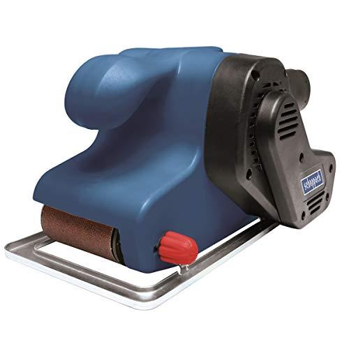 SCHEPPACH ES900 Bandschleifer (Schleifer 900W, Geschwindichkeit 320 m/min, 9x Sandpapier (75x533mm) und Staubbeutel)