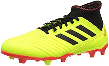 adidas PREDATOR 18.3 FG Soccer Shoe (unisex-adult) solar yellow/black/solar red 6.5 M US