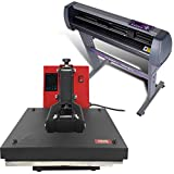USCutter 28' Vinyl Cutter + 15' x 15' Digital Heat Press Machine Signs/T-Shirt Making
