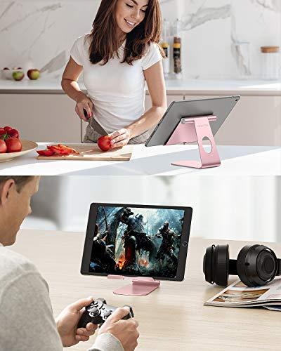 OMOTON Soporte Tablet Ajustable, Multi-ÁnguloBase Tablet de Aluminio para iPad Pro 10.5/9.7/12.9/10.2, iPad Mini 2/3/4/5, iPad Air/Air 2, Samsung Tab, Kindle y Otras Tabletas de 7-13 Pulgadas, Gris 9