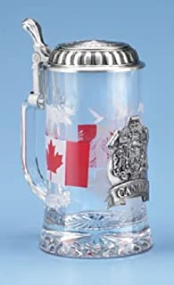 Canada Flag Glass German Beer Stein