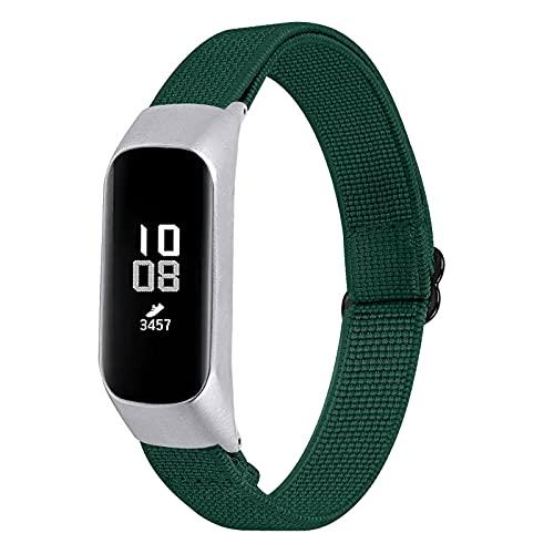 Armband für Galaxy Fit E, RuiRdot Weiche Ersatzbänder Stoffgummiband Leichte verstellbare Handschlaufe Uhrenarmbänder Kompatibel für Samsung Galaxy Fit E SM-R375 Smart Watch (R1)