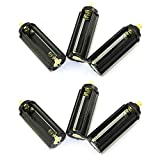 DGZZI 6pcs Black Cylindrical Battery Holder Battery Storage Case for 3 x 1.5V AAA Batteries Flashlight Torch