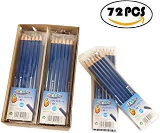 CARIOCA-Caja de 72 Lápices Grafito 2-HB Apto Uso Escolar Color Azul