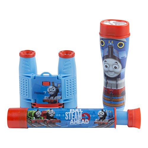 Thomas & Friends 3Piece Adventure Kit with Binoculars, Flashlight, Telescope, Thomas The Train Inspired Design, 35Mm Camera, 4x28 Thomas The Train Inspired Binoculars, 3Piece, Blue, Model:26085-GROU
