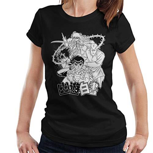 Cloud City 7 Yu Yu Hakusho Characters Battle Pose Point Women's T-Shirt