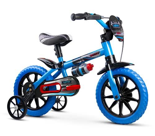 Bicicleta Infantil Aro 12 Veloz PU com Rodinhas, Nathor