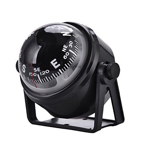 Digital Marine Kompass, Kompass Boot Hoher Präzisions Schwenkender Nachtsicht Kugel Kompass Elektronischer Einstellbare Navigations Kompass mit Halterung für Marine Boots Auto Motorrad Bootskompass