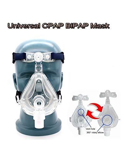Messygo Nasenkissen CPAP-Maske Schlafmaske Geeignet Masken Universal Kopfbedeckung Headgear Für Schlaf-Schnarch-Apnoe-Geräte Angenehm Zu Tragen,M