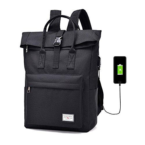Mochila para portátil de negocios con puerto de carga USB antirrobo, resistente al agua, para viajes, senderismo y camping, mochila para colegio, compatible con portátil de 16,5 pulgadas y portátil