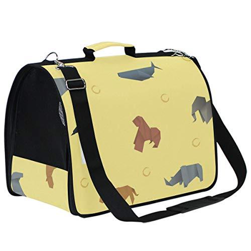 LKZNT - Portador de Mascotas para Perros, Origami, portátil, de Viaje, Gato, Conejo, Bolsa de Red Transpirable con Almohadilla Antideslizante