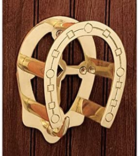 Dover Saddlery Solid Brass Horseshoe Bridle Bracket