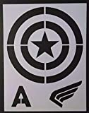 Captain America Shield Etc. 8.5' x 11' Custom Stencil