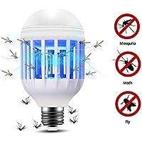 Lixada - Bombilla LED 2 en 1, 15 W, 175-220 V, luz eléctrica, Trampa, Bombilla antimosquitos, Bianco