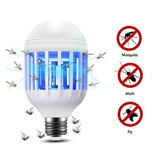 Lixada 2 in 1 15W LED Lampada Lampadina 175-220V Luce elettrica Trappola Lampadina Anti-zanzara