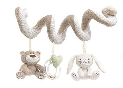 Vektenxi Baby Kleinkind Spielzeug Kinderbett Spielzeug Kinderwagen Aktivität Spielzeug Stofftier hängen Spielzeug Spiral Kinderwagen Spielzeug grau hohe Qualität