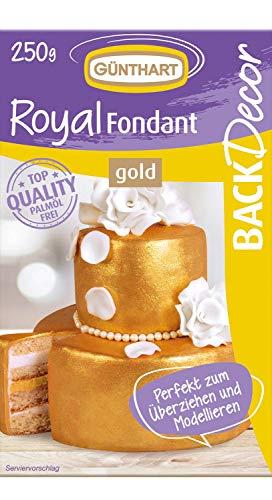 Günthart BackDecor Royal Fondant   Fondant gold   250 g   Palmöl frei   Modelliermasse   Hochzeit   edel   Jubiläum   Geburtstag