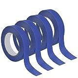 4 Rotoli Nastro Adesivo 24mm, Nastro di Carta per Mascheratura Verniciatura, Masking Tape Nastro Coprente per Scocht Carta Pittore, 50m (Blu)
