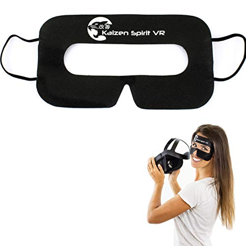 Kaizen Spirit VR [100 Count Disposable VR Covers, VR Disposable Face Mask, VR Mask, VR Face Mask, Sanitary Masks, VR Mask Disposable, Virtual Reality Facemask, VR Disposable Cover, VR Sanitary Mask