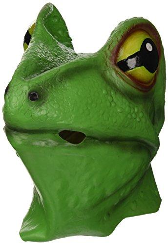 Bristol Novelty BM255 kikker masker, groen, eenheidsmaat