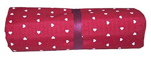 BA COLLECTION Grandfoulard - Telo copritutto - copridivano - copriletto- tendaggio col. Rosso MOD. Cuoricini 240x260 cm