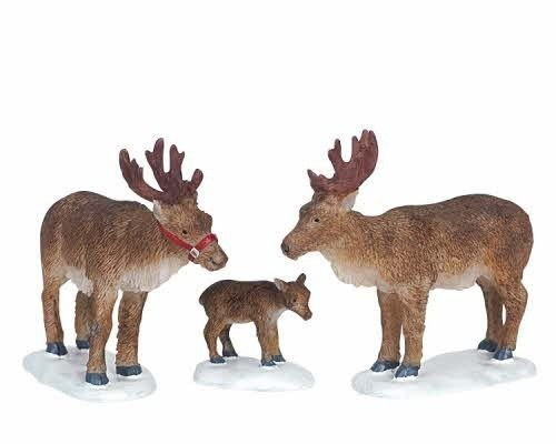 Lemax Decoration 'Reindeer', Set of 3 Figures by Lemax