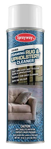 Sprayway SW869 Foaming Rug and Upholstery Cleaner, 18 oz, Clear, colorless Liquid