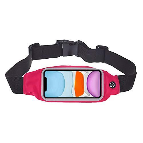 iPhone 11 Pro Max Bauchband – für Training, Laufen, Joggen, Radfahren, Fitnessstudio, Sport und mehr, Gürteltasche für iPhone 11 Pro Max (Pink)