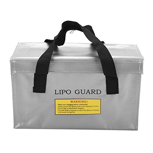 Haofy Bolsa Segura para batería Lipo Guard a Prueba de explosiones, Bolsas de Almacenamiento de baterías de Carga de Gran Espacio Resistentes al Fuego(A)